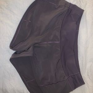 lululemon purple speed up shorts